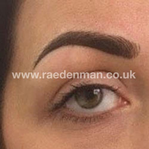 eyebrow medical tattoo after